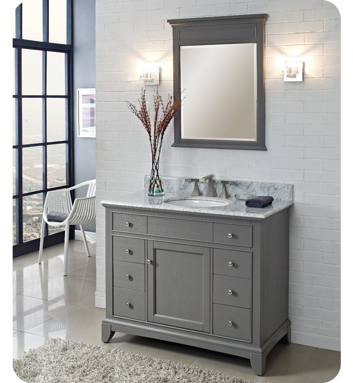 "Fairmont Designs 1504-V42 Smithfield 42"" Modern Bathroom ..."