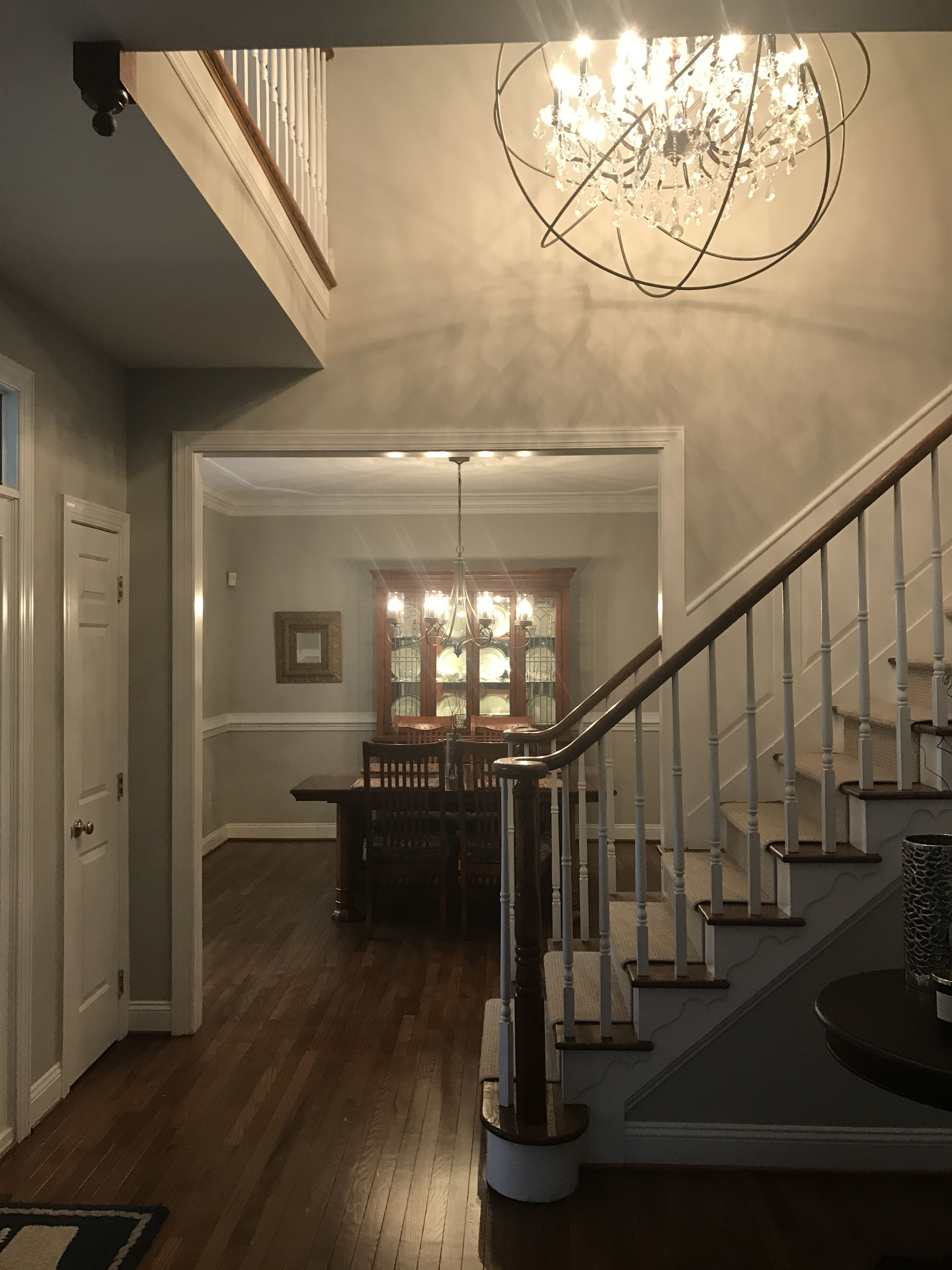 Best Paint Sherwin Williams Repose Grey Chandelier Restoration Hardware Banister Minwax Bombay M 400 x 300