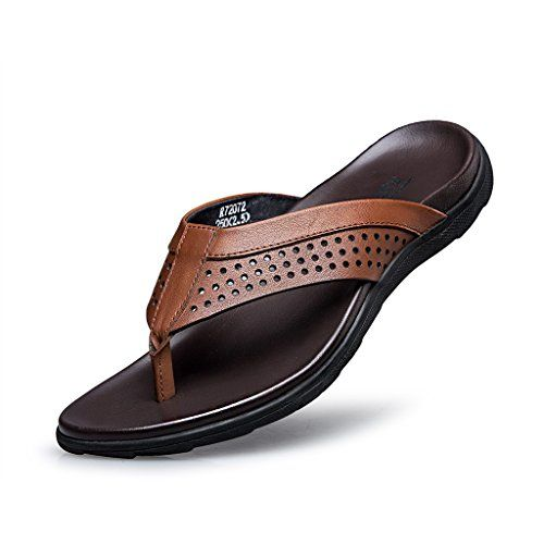 Zro Men S Leather Summer Sandal Classical Comfortable Ii Flip Flop