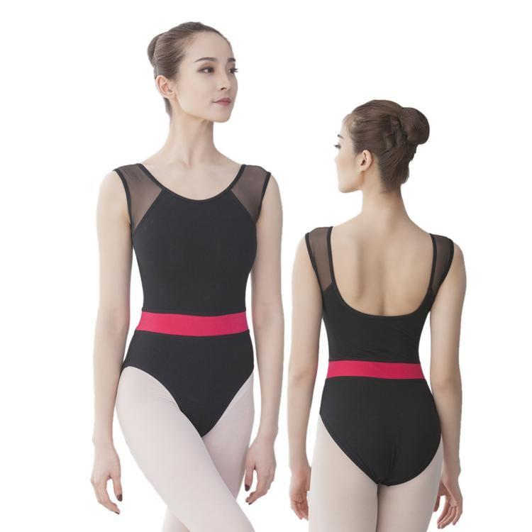 73f42e31392c 01B1806--This dance leotard offers strechy mesh-matched shoulder ...
