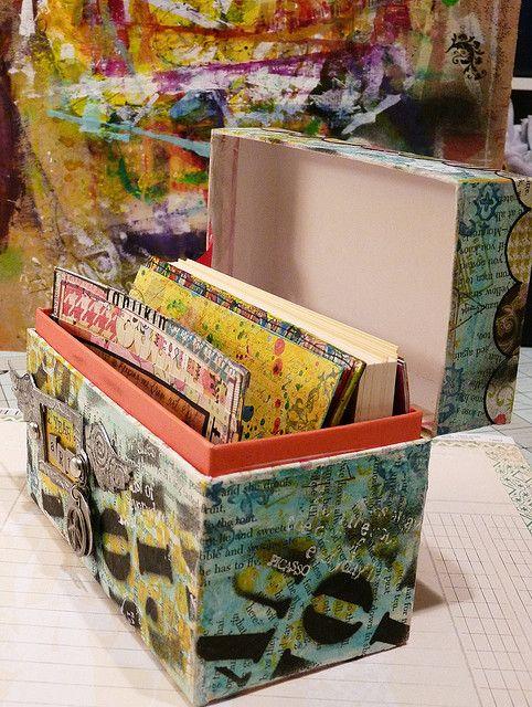 Start small it's less intimitdating...art journal box. Neat idea!