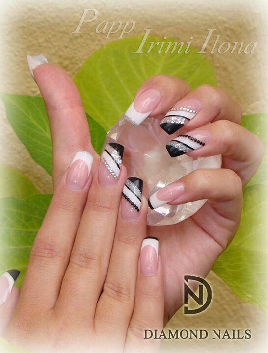 Prom nails  | Nails design with rhinestones, Diamond
