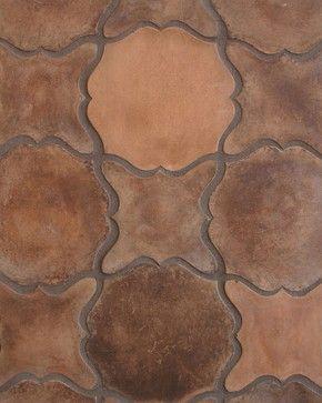 Pattern 13 In Spanish Cotto Mediterranean Floor Tiles Los