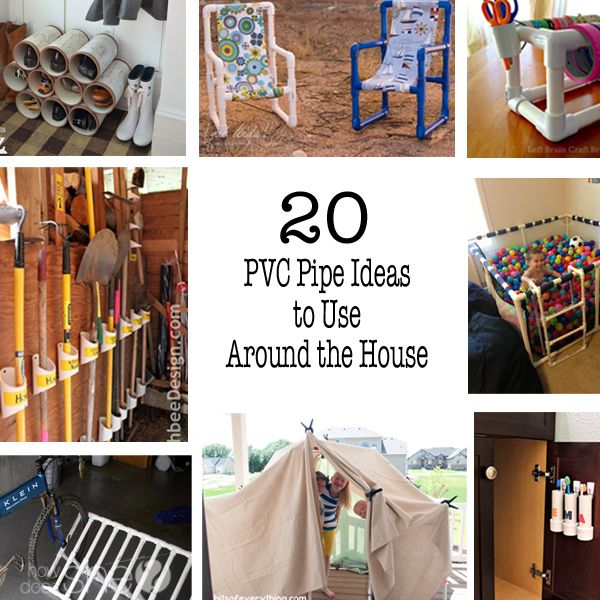 PVC Pipe Ideas To Use Around The House Pvc Pipe Pipes And Store - Diy pvc pipe projects home