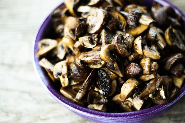 Roasted Mushrooms with Thyme | Make Ahead Mondays