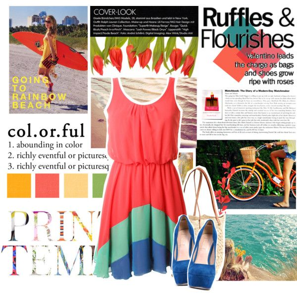 Col.or.ful, created by zleemabrey on Polyvore. --- Love the dress