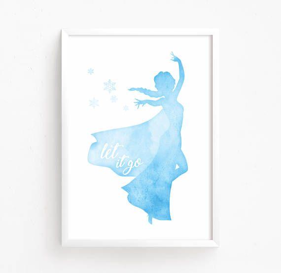 Elsa Frozen Watercolor Printable Disney Princess Print Art Quote