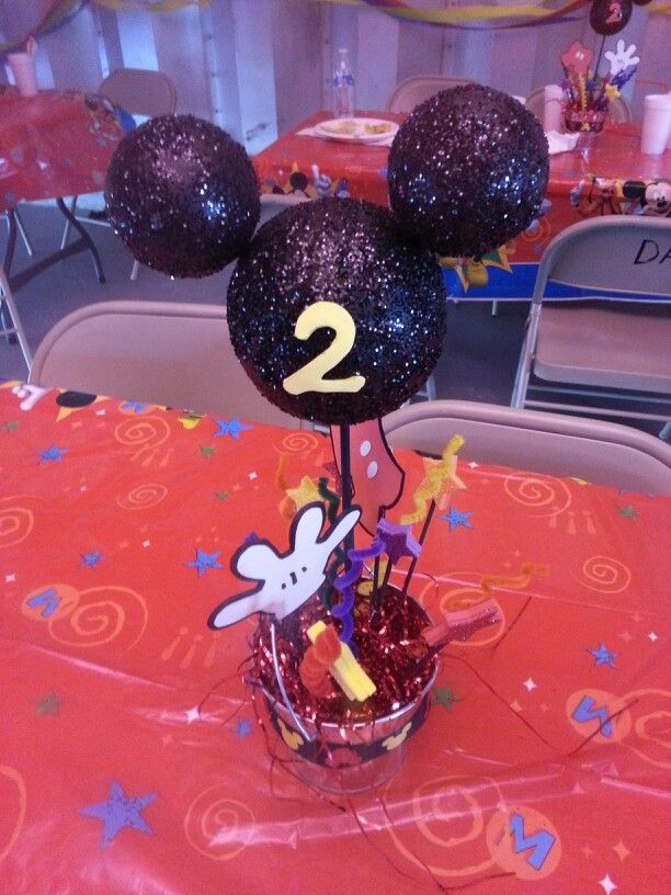 Mickey Mouse center piece.
