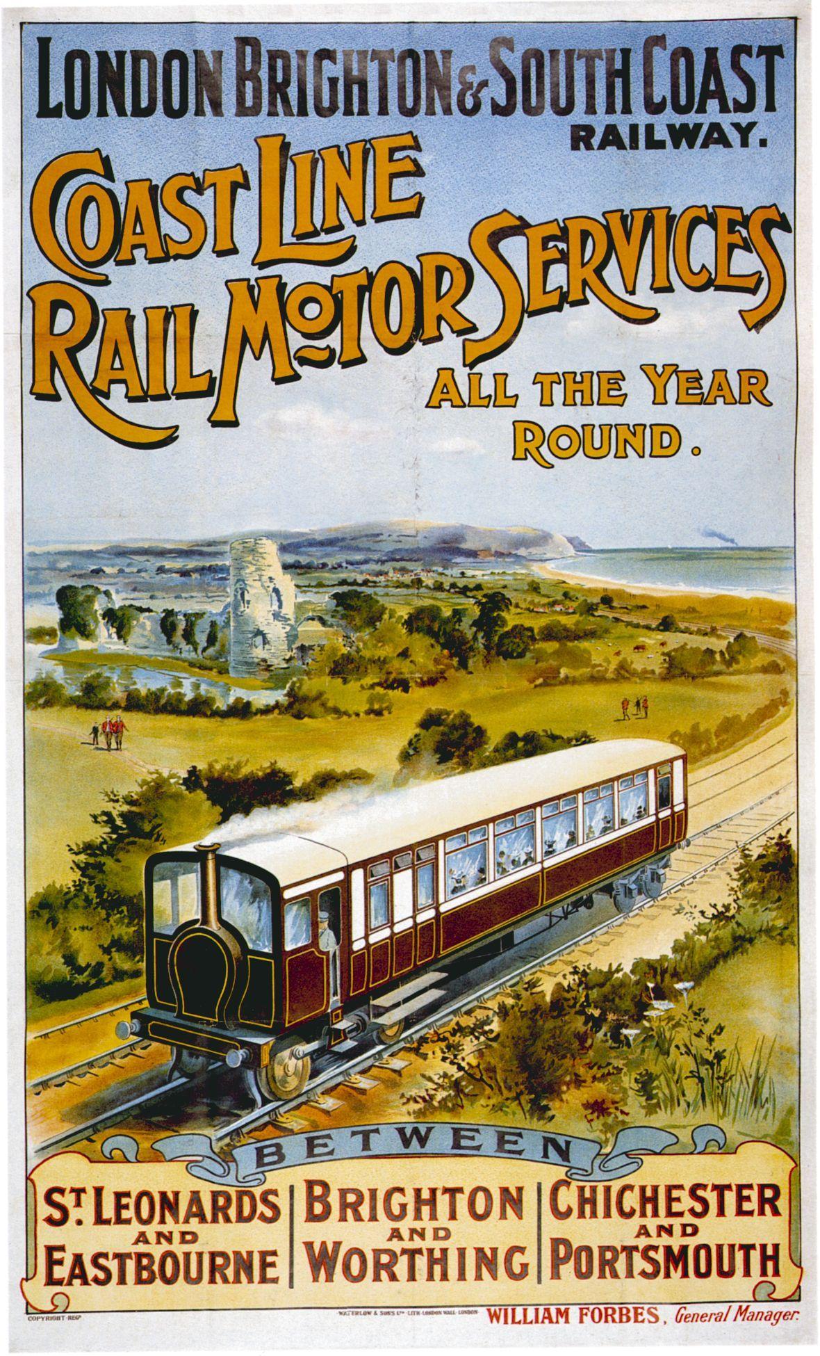 1959 British Rail Yorkshire Coast Poster A3 A2 Print