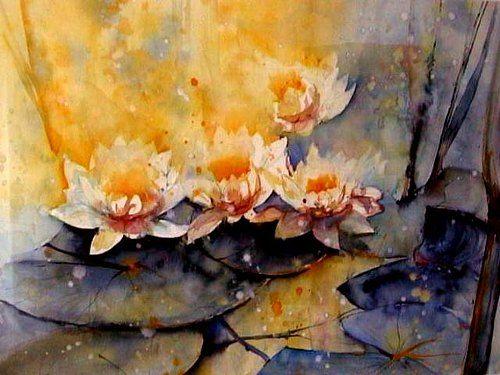 webo kunst natur wasser pflanzen blumen flowers watercolour pinterest watercolor. Black Bedroom Furniture Sets. Home Design Ideas