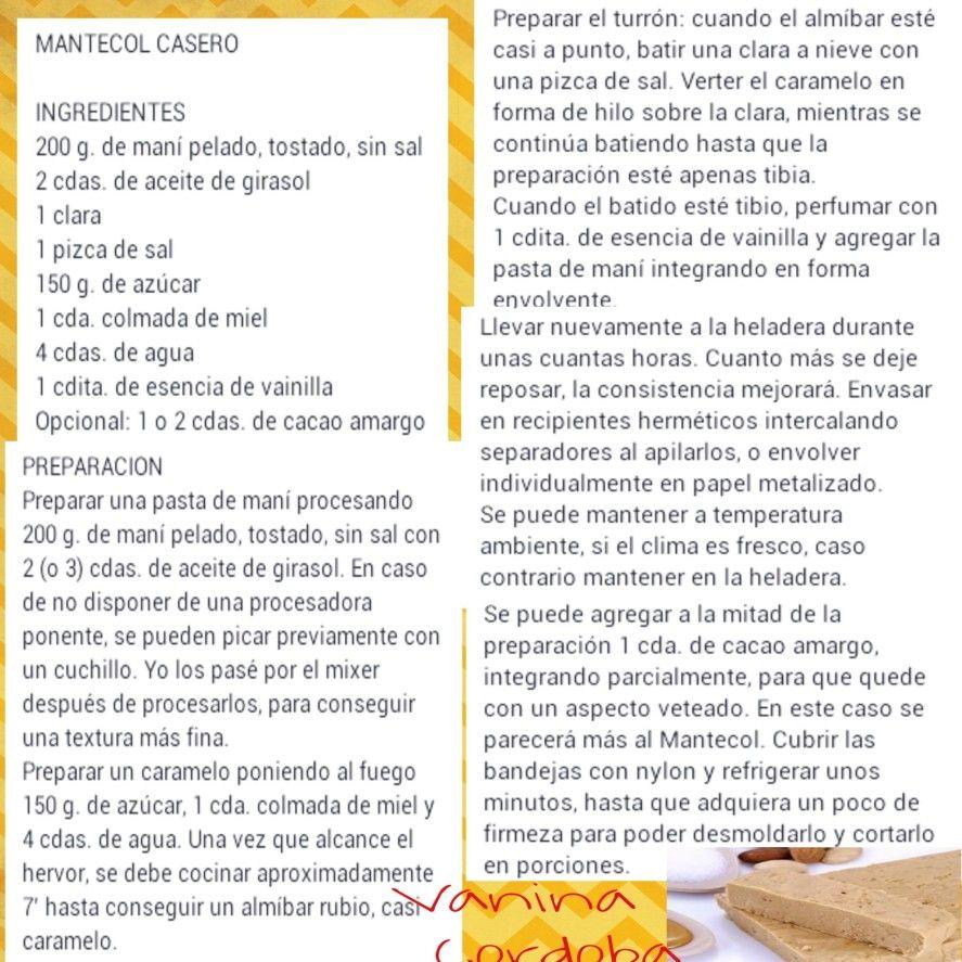 Mantecol casero