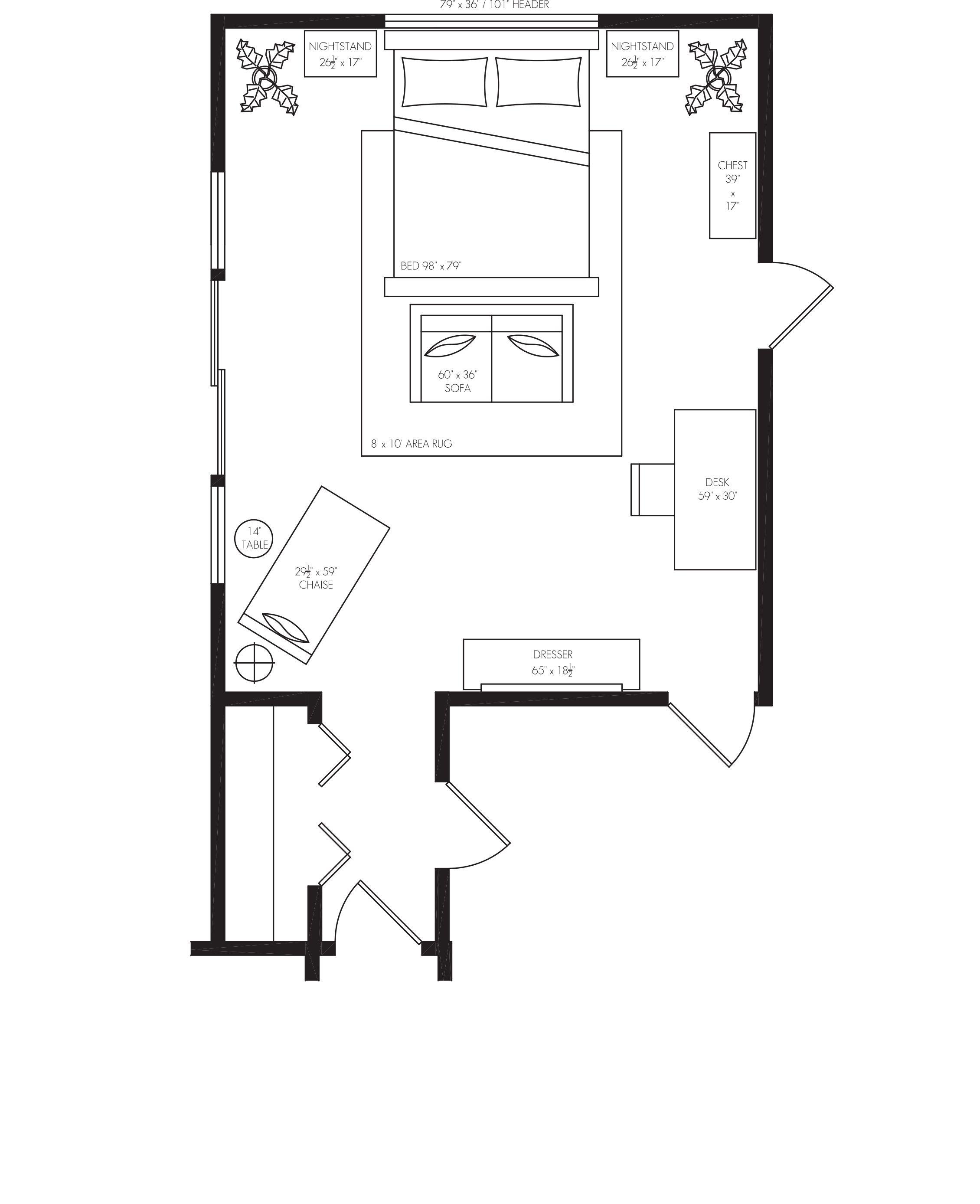 Master Bedroom Furniture Layout Santa Rita