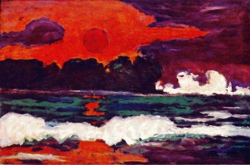 """Emil Nolde """"Tropical sun"""""""