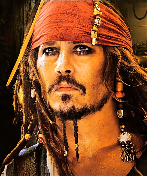 Jack Sparrow aka Johnny Depp. Wow.