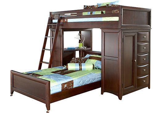 Bunk Bed With Desk Beds Loft, Student Loft Bed With Desk