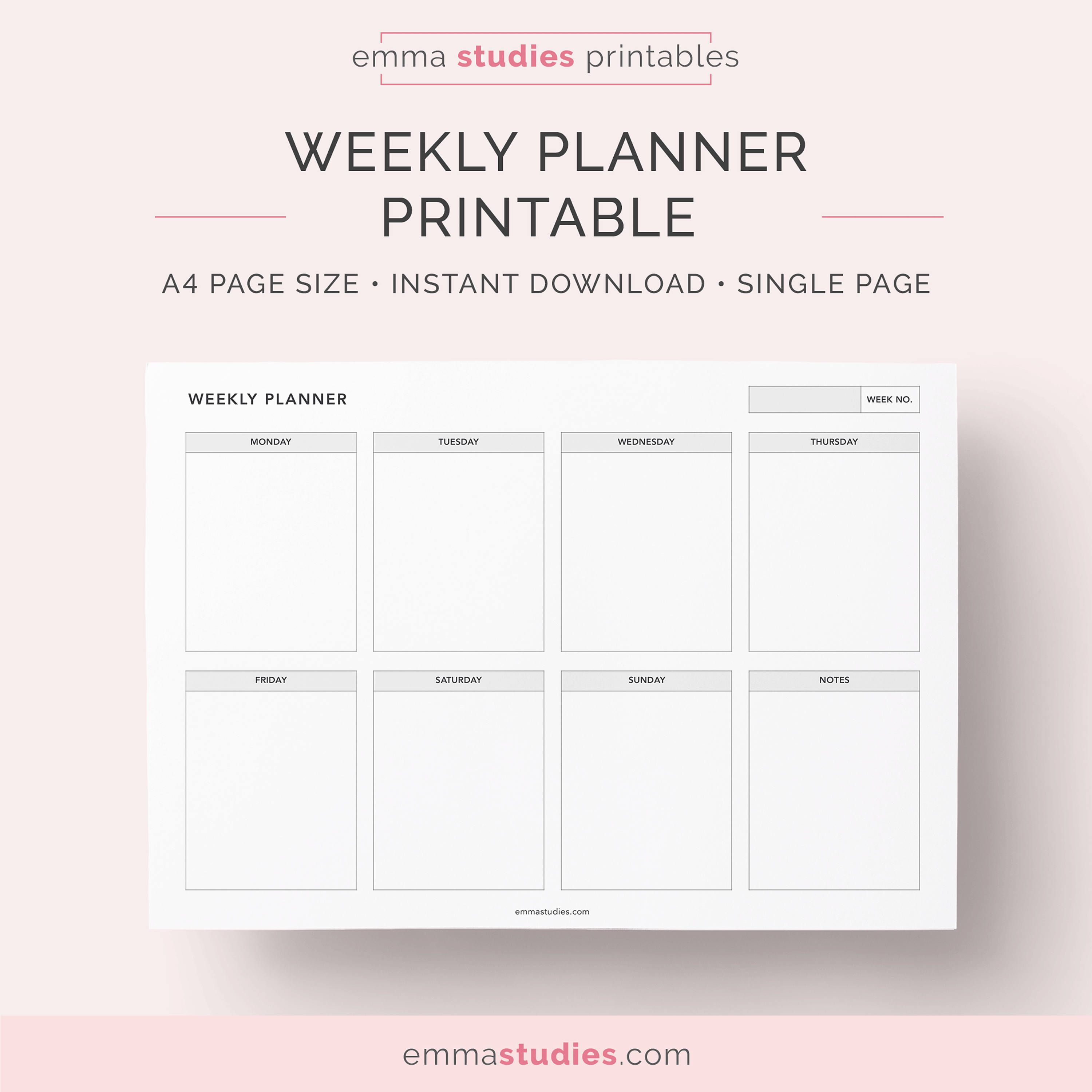 Printable Meeting Notes Template- includes attendees, date ...