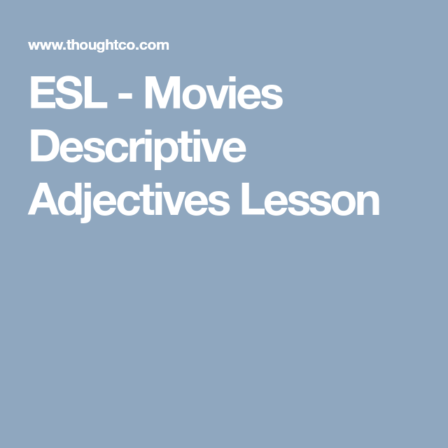 descriptive words for movies