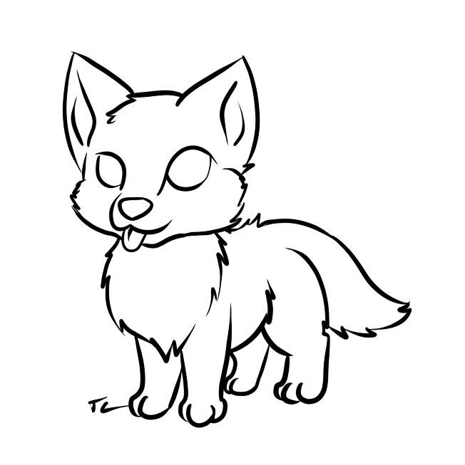 image result for easy but cool drawings of wolves with