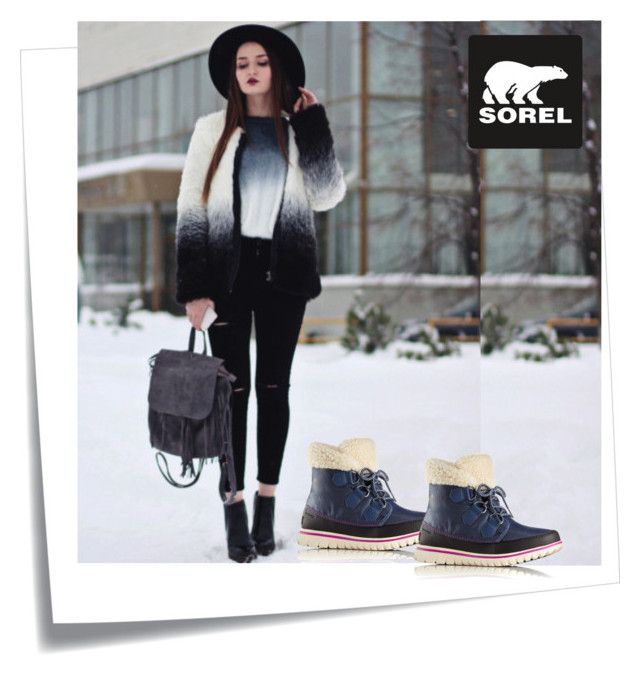 """""""Tame Winter with SOREL: Contest Entry"""" by m-kints ❤ liked on Polyvore featuring Post-It, SOREL and sorelstyle"""
