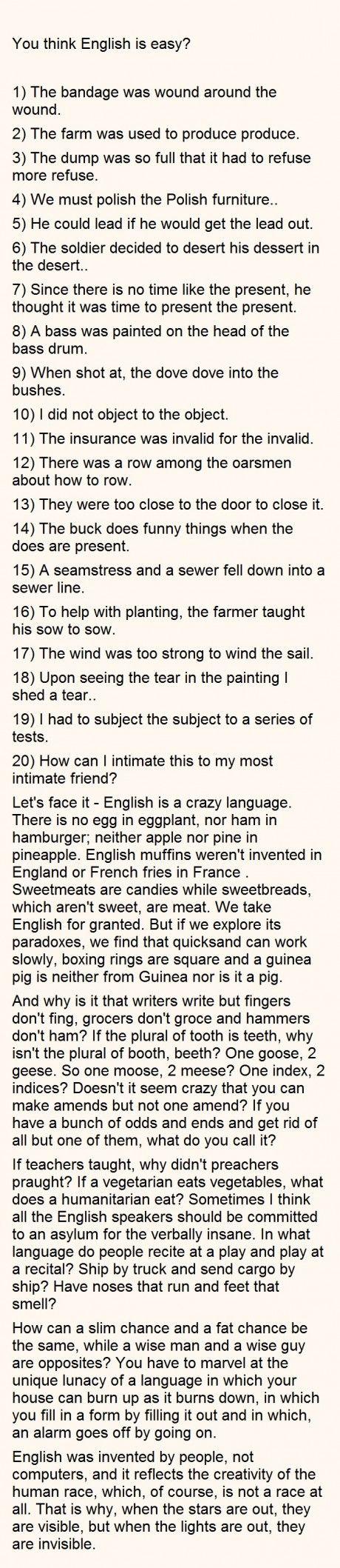 The English Language Yep It S Weird Funny Quotes Language Words