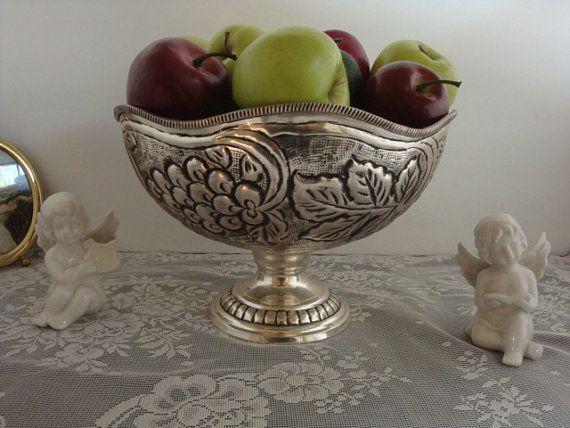 vintage silverplate Tarnish  textured hammered by pureblisscottage