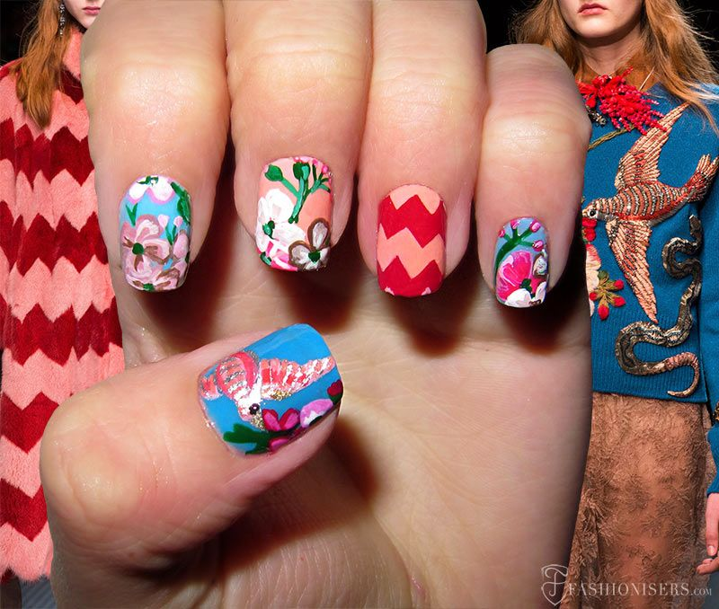 Fall 2015 Runway Inspired Nail Art Designs | Beauty guide and Nail ...