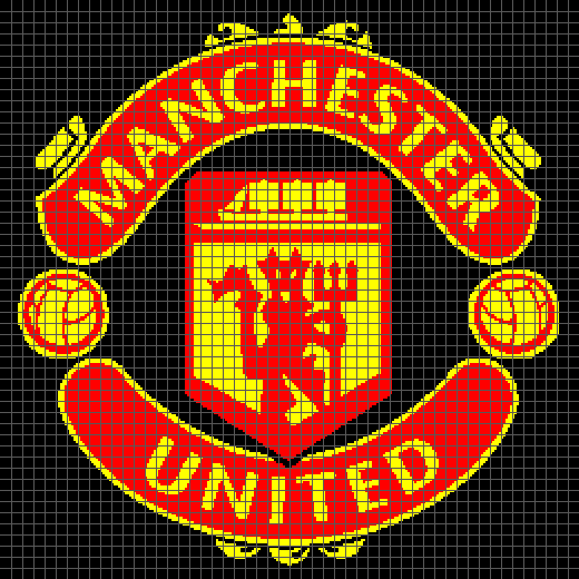 Manchester United Graph And Row By Row Written Crochet Instructions 01 Yarnloveaffair Com Crochet Instructions The Unit Manchester United