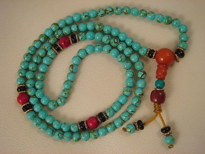 China #tibet 108 #turquoise buddhist prayer #beads mala necklace bracelet #beads,  View more on the LINK: 	http://www.zeppy.io/product/gb/2/141996923884/