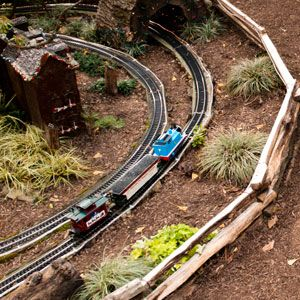 Garden Railroads are a great way to get kids active outdoors...find one in your area