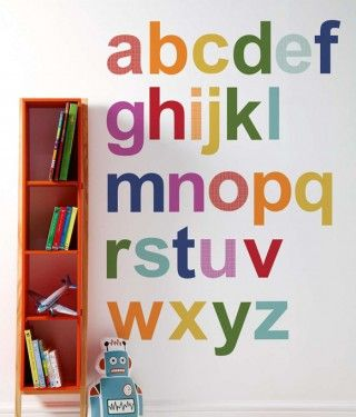 Autocollant Mural Alphabet Multicolore Patternology Divers Déco