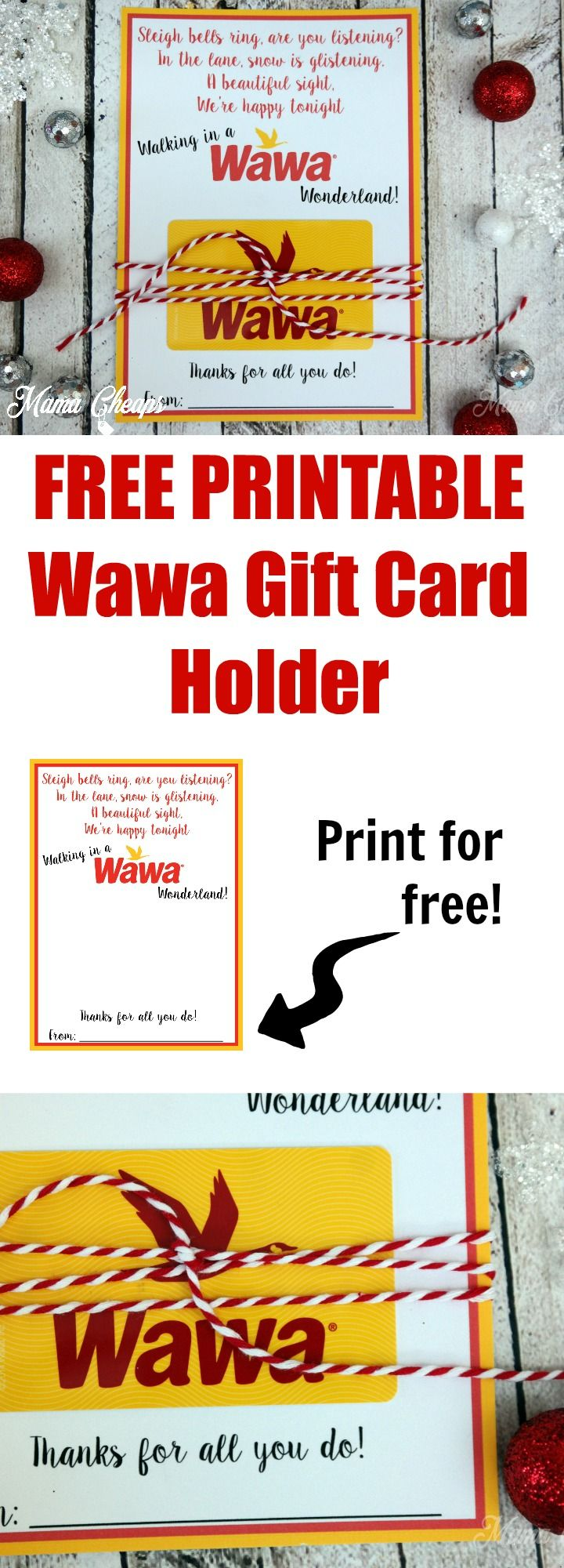 Wawa free printable holiday gift card holder free printable wawa gift card free printable httpmamacheaps2016 negle Images