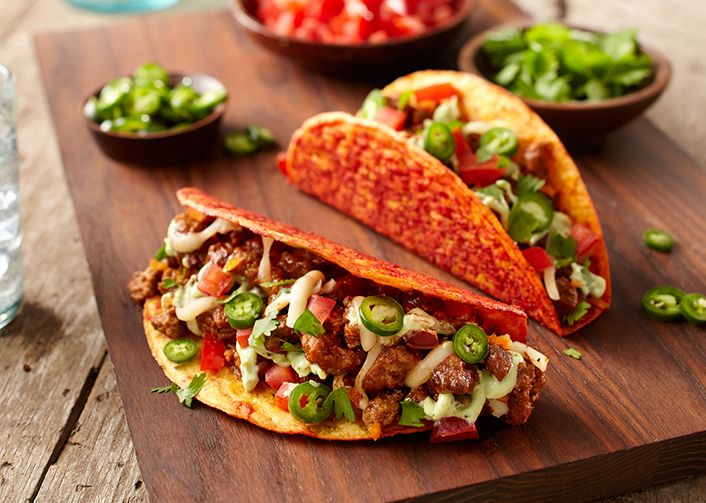 Add a little spice to holiday cooking with an Old El Paso™ Stand 'n Stuff™ bold spicy taco shell stuffed with habanero beef, avocado crema and pepper jack cheese. Shop your ingredients at Publix and click the pin to get the full recipe at ReadyPlanSave.com!