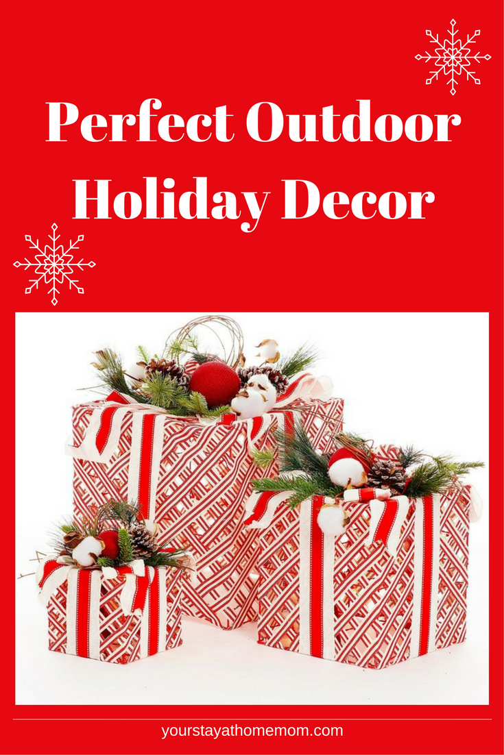 Outdoor christmas presents for the front porch decorations holiday