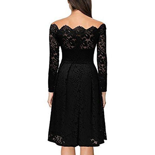 Photo of 2018 Women Fashion Wedding Dress Female Off Shoulder Long Sl…