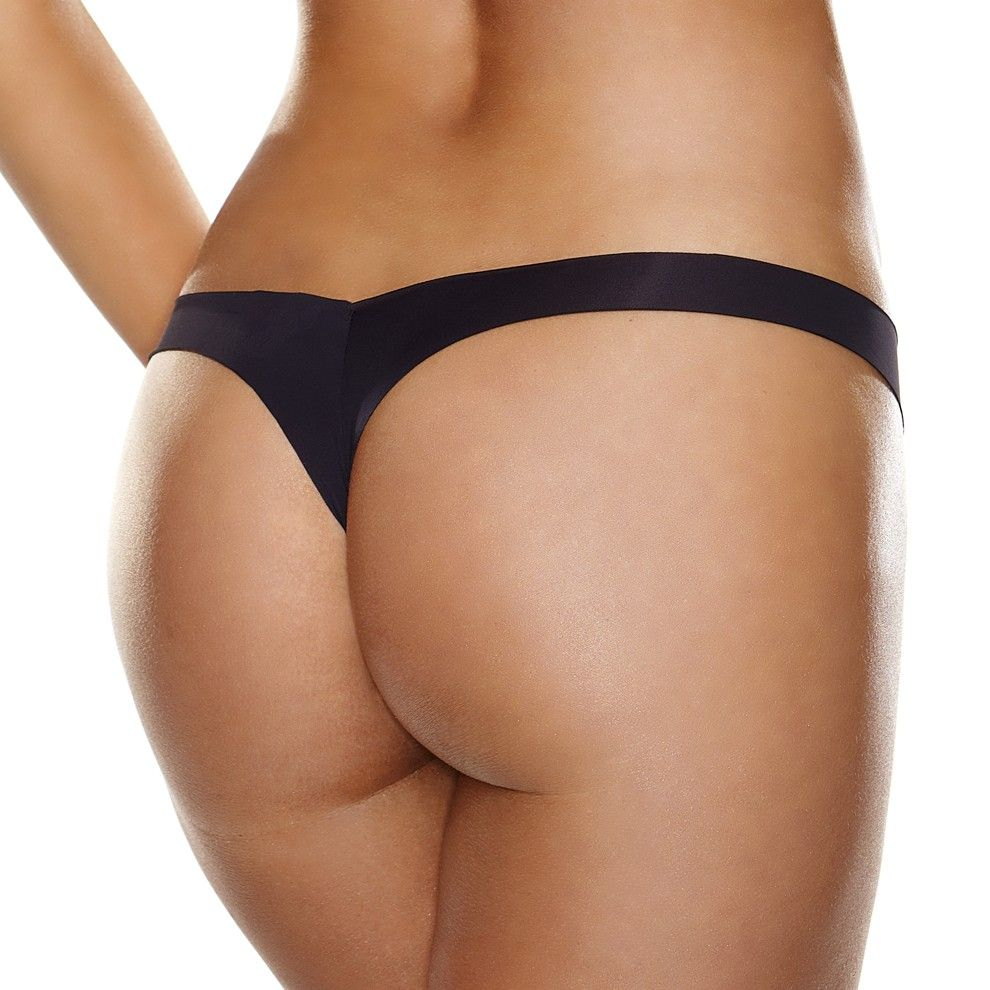 invisible thong - tagless, laser cut microfiber panties. no more