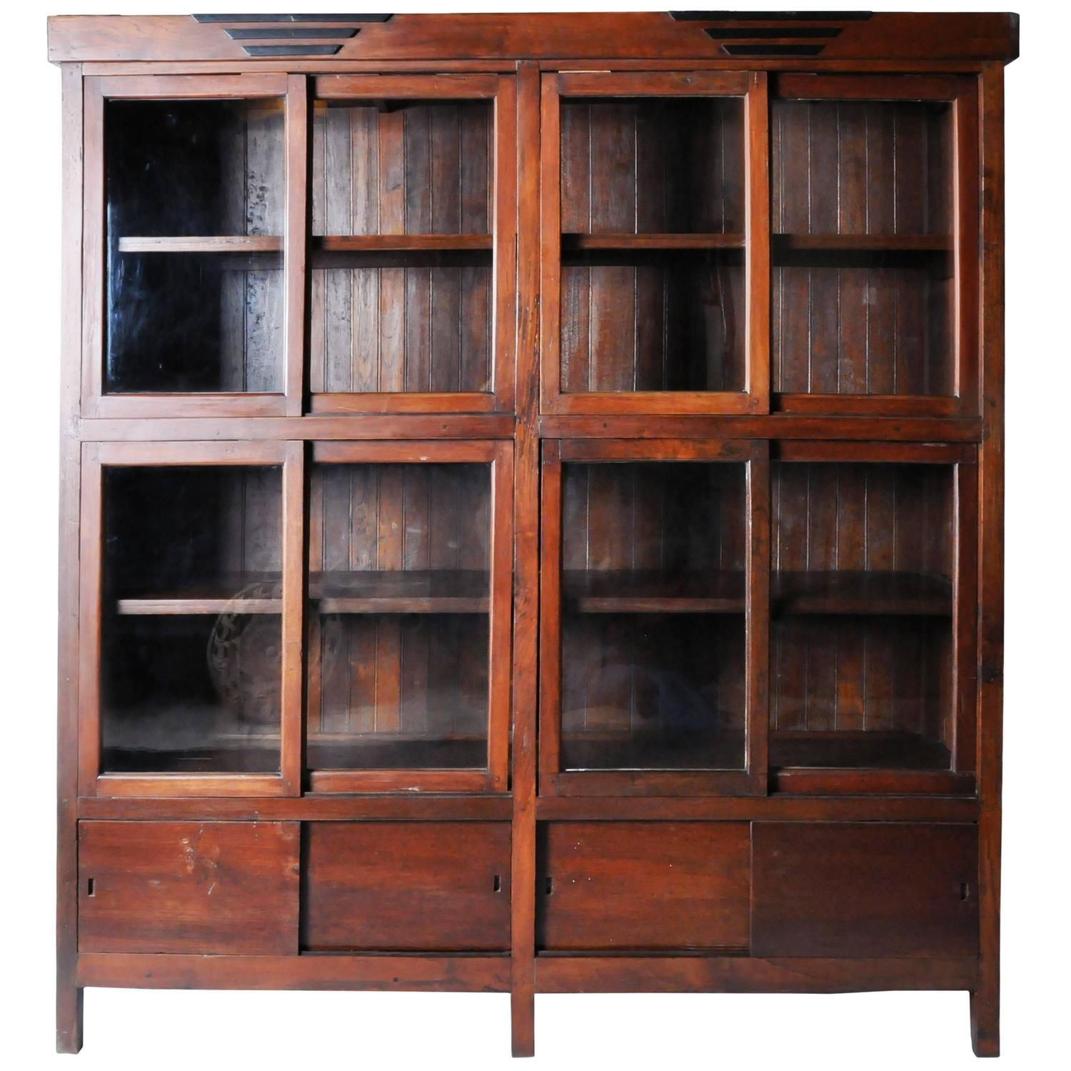 British colonial style bookcase british colonial style for Furniture of america nara contemporary 6 shelf tiered open bookcase