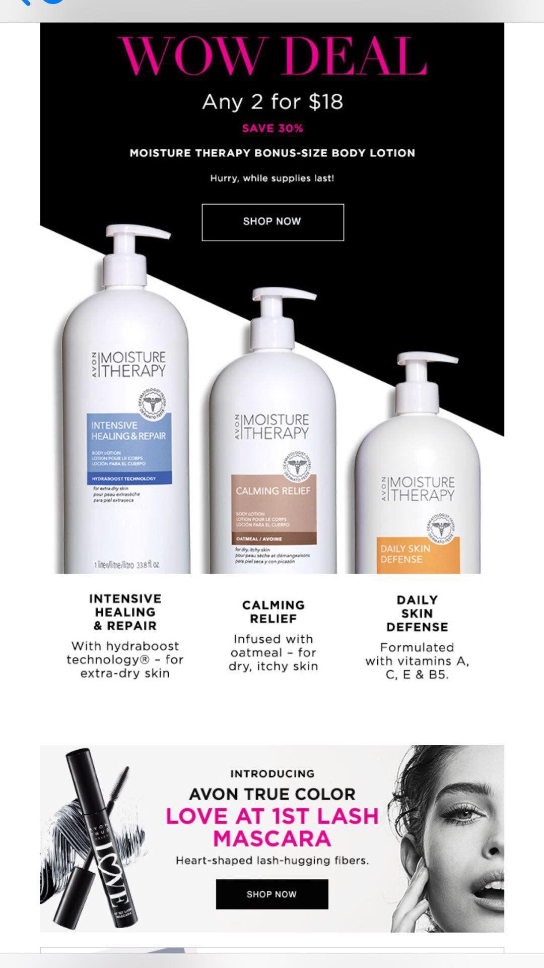 Avon bonus size body lotion on sale right now. Moisture
