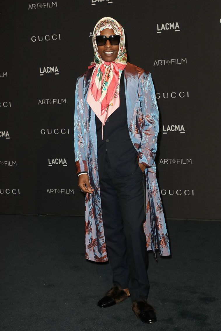 "c4214e54a The Drip | A$AP Rocky's All-Gucci ""Babushka"" Red Carpet Look Is Arguably  His Best Yet"