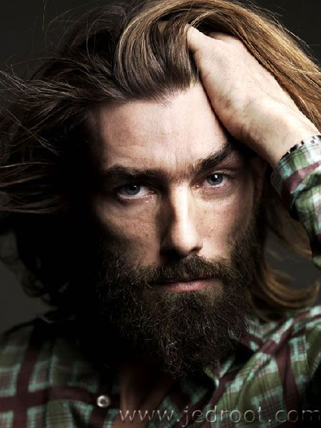 <3  Patrick Petitjean, my Alpha Beard. There can be only one. His beard has been long, short, shaved off -- the panties drop regardless. But his beard gives him visual strength. That and his amazing modeling chops.