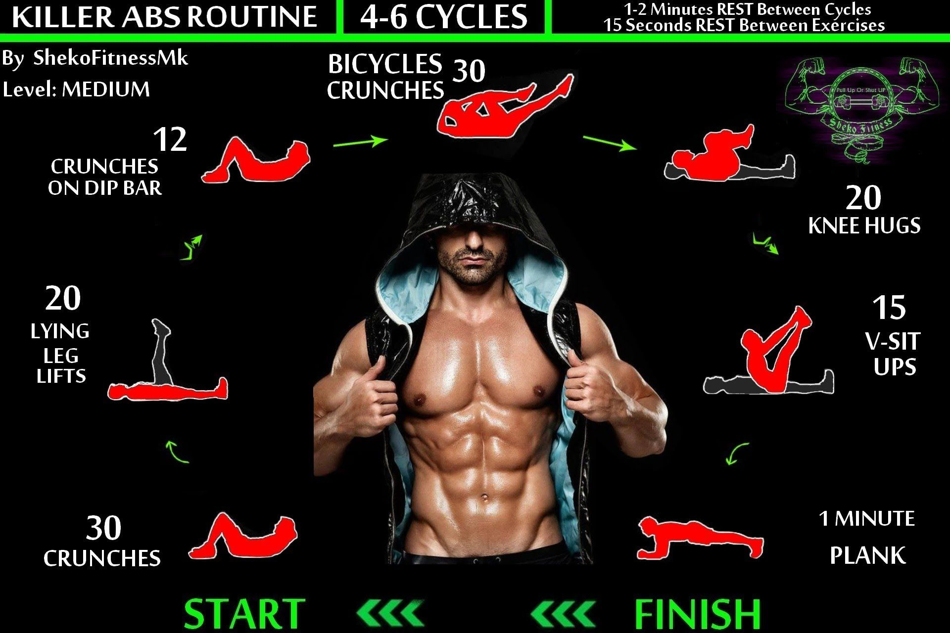 Killer ABS Workout - Six Pack Routine | Calisthenics Ab ...