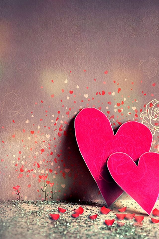 Download Cute Together Hearts Iphone Wallpaper 40270 From Mobile Wallpapers This Cute Together Hear Heart Wallpaper Heart Iphone Wallpaper Love Pink Wallpaper