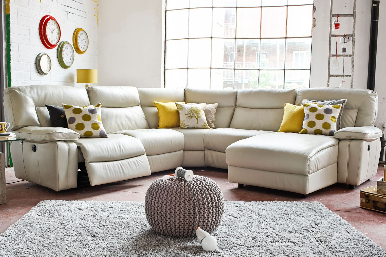 Piper Leather Corner Sofa Harvey Norman