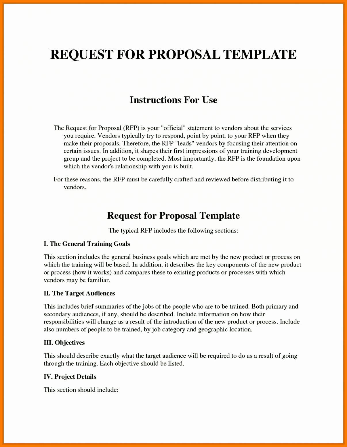Request For Proposal Template Fresh Sample Rfp Response Template Information Technology Exam Proposal Templates Request For Proposal Business Proposal Template