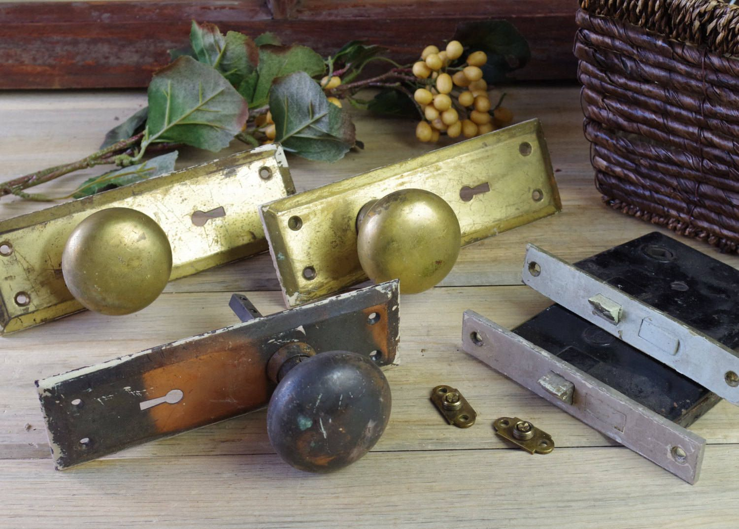 Antique Door Hardware, Vintage Hardware, Home Restoration, Salvaged  Hardware, Antique Door Knobs, Vintage Door Plate, Door Restoration #8-41 - Antique Door Hardware, Vintage Hardware, Home Restoration, Salvaged