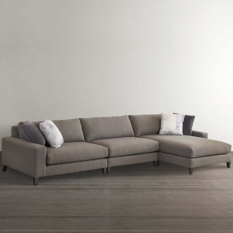 Bassett Furniture B Modern Terafino Small Right Chaise Sectional Couch With Chaise Sectional Modern Couch