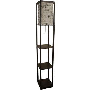 Mainstays Shelf Floor Lamp With Script Shade, Brown (Walmart $43)