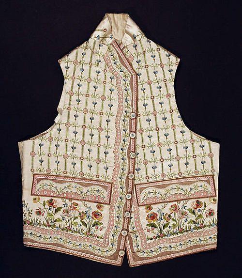 Waistcoat 1790s The Metropolitan Museum of Art