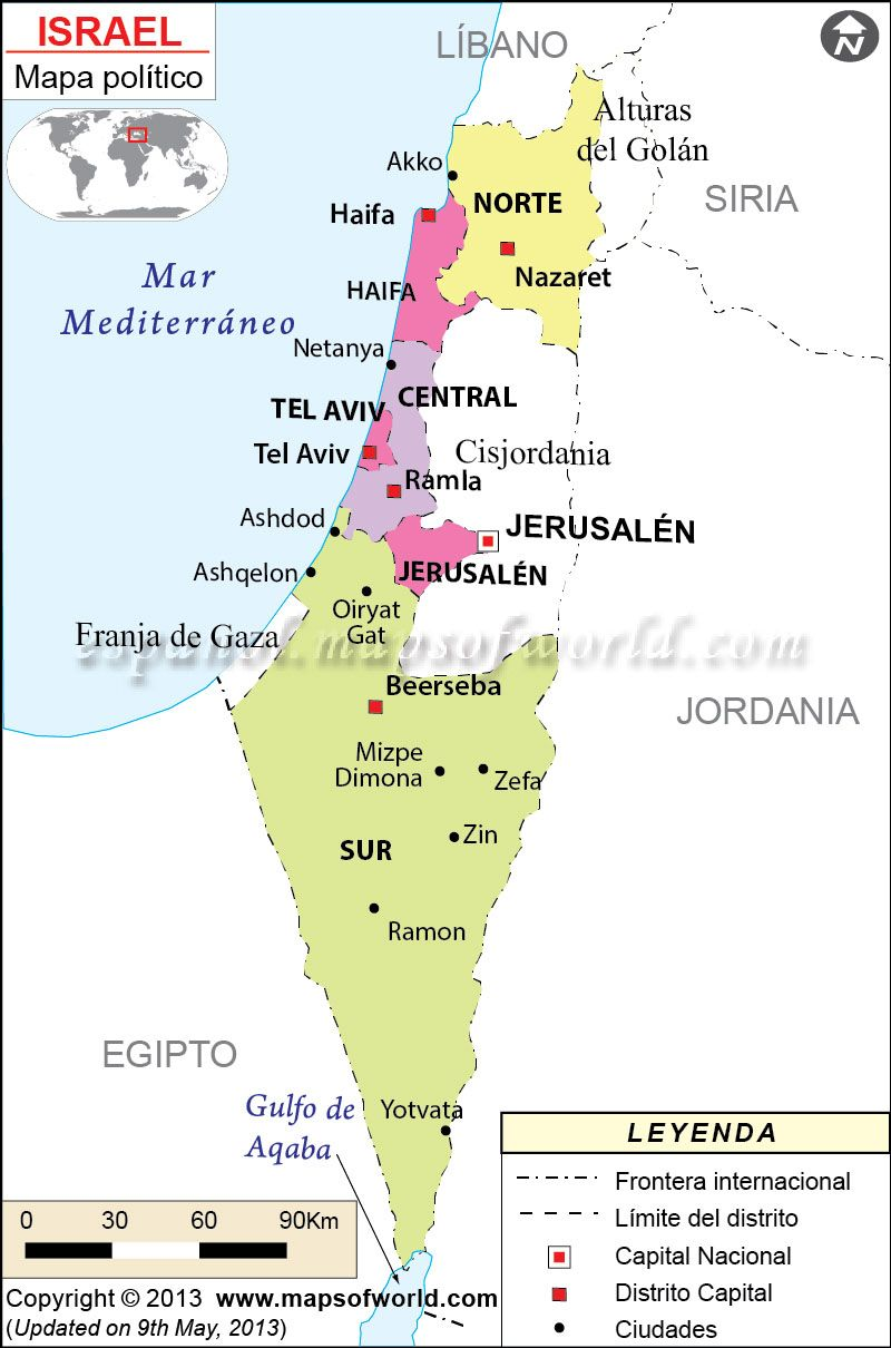 Israel Mapa Israel Asia And Jerusalem - What continent is israel located