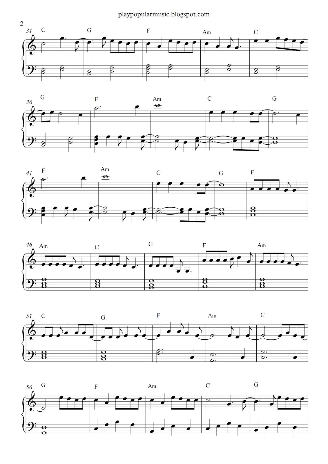 Free piano sheet music: Howling At The Moon - Milow.pdf Be ...  Free piano shee...