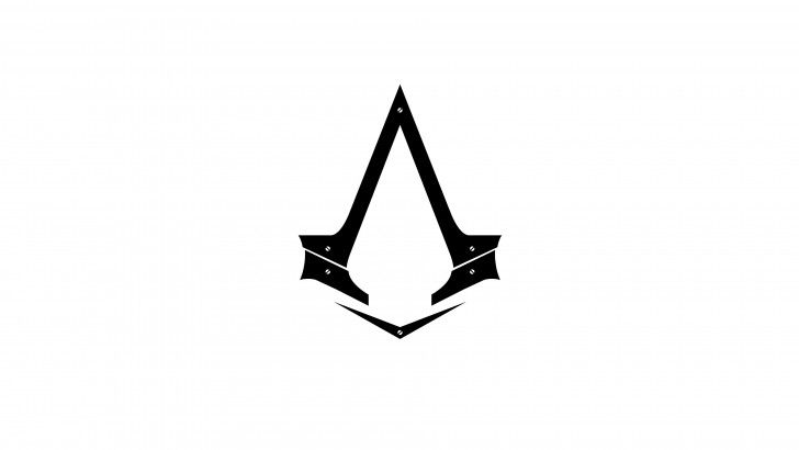 Download Assassins Creed Syndicate Logo 4k Wallpaper White